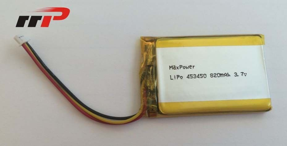 3.7v Lithium Polymer Battery Pack 820mAh , Lithium Polymer Car Battery