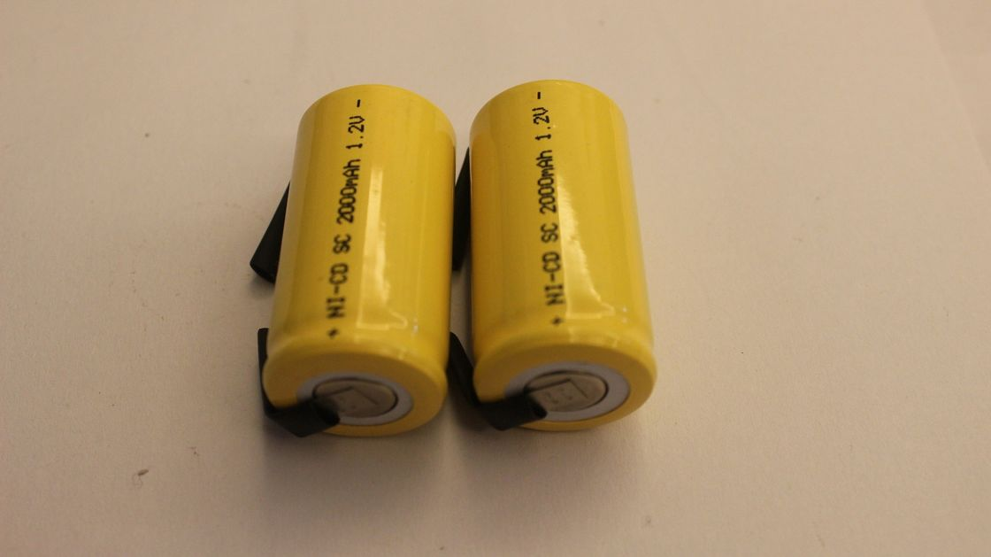 SC Size 1.2V Cylindrical NICD Rechargeable Batteries 2000mAh for R/C Hobbies