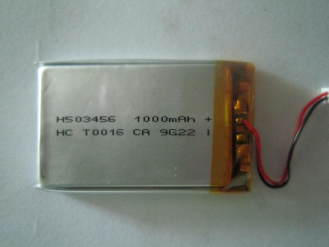 High Discharge 3.7V Polymer Battery , Rechargeable Lithium Batteries