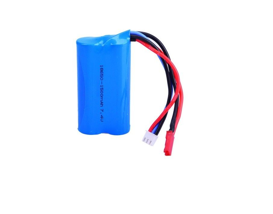 7.4V 18650 1500mAh Lithium Ion Rechargeable Batteries 15C Discharge Rate For Aeromodel / Electric Toy