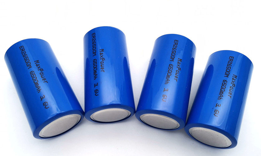 lithium thionyl chloride battery Lisocl2 ER26500M 6500mAh 3.6V with high capacity long storage life no memory effect