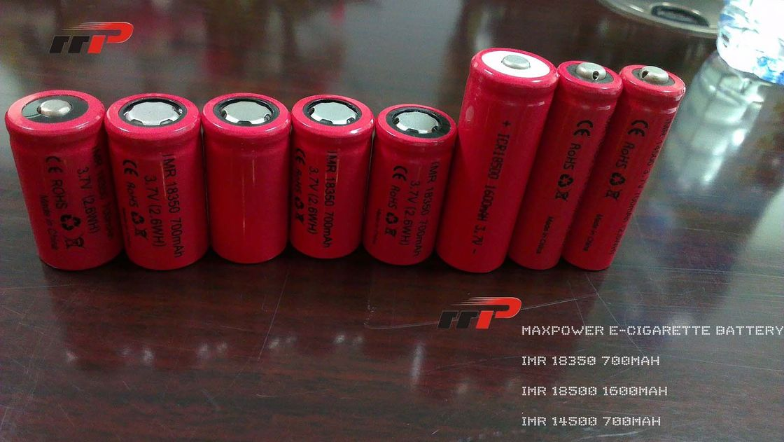 IMR 18350 700mAh Lithium Ion Rechargeable Batteries 3.7V 2.6WH E-Cigarette