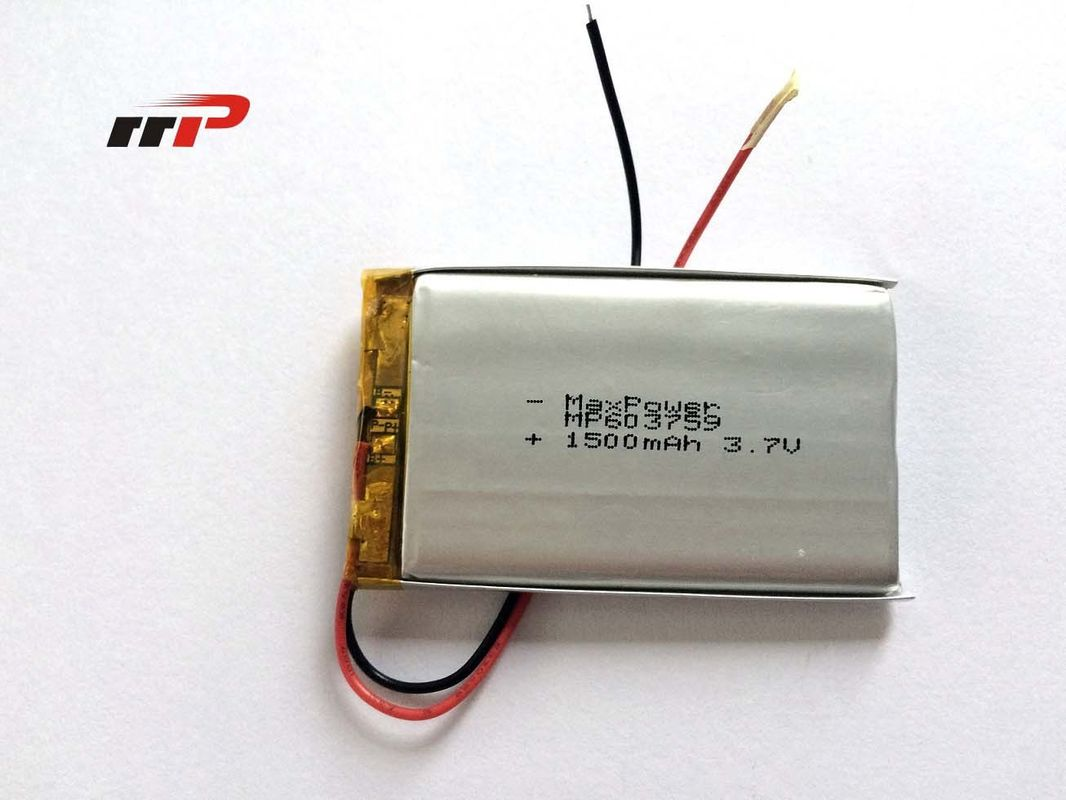 Energy Saving Lithium AA Polymer Battery High Rate 3.7V 1500mAh